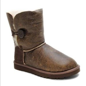 UGG Bailey Button Boots in Brown
